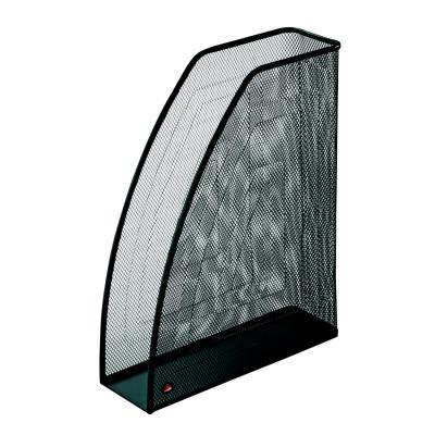 Porte revues en métal Alba Mesh noir - dos 7 cm (photo)