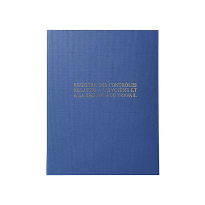 Registre contrôle d'Hygiène et de Sécurité - 32 x 24 cm - 40 pages
