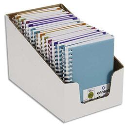 Carnets de notes Canson - couverture en polypro - 10,5 x 14,8 cm - 100 pages - 120g - coloris assortis (photo)