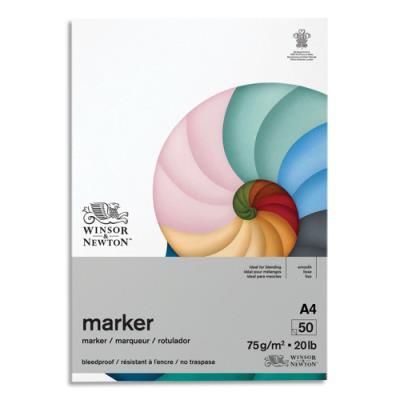 Bloc de 50 feuilles de papier Winsor & Newton Bleedproof A4 - 75g - papier spécifique pour Promarker (photo)