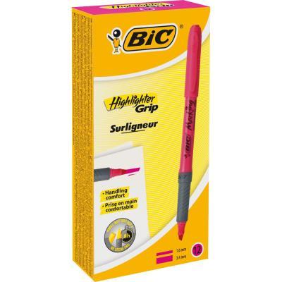 Surligneur Bic Brite Liner Grip - rose