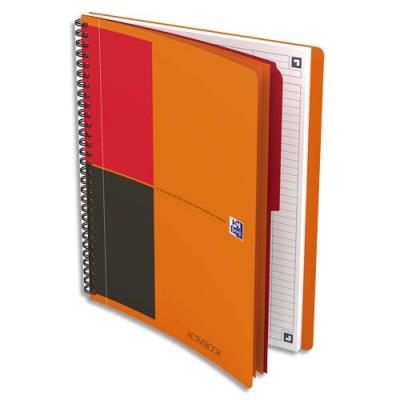 Cahier Oxford Activebook I-Connect - couverture polypropylène - spirale - 18,5 x 25 cm - 160 pages - ligné 6 mm