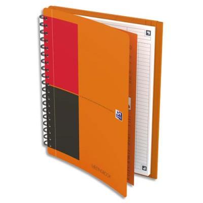 Cahier Oxford Meetingbook I-Connect - couverture polypropylène - spiralé - 18,5 x 25 cm - 160 pages - ligné 6 mm