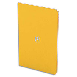 Carnet Oxford Pocket Notes - couverture carte bi-colore - agrafé 9x14cm - 48 pages - ligné 6 mm - jaune (photo)