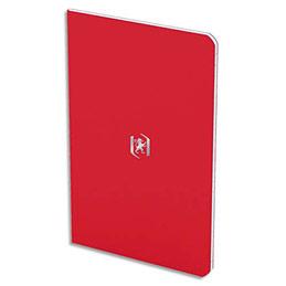 Carnet Oxford Pocket Notes agrafé - couverture carte - 9 x 14 cm - 48 pages - ligné 6 mm - rouge tomate (photo)