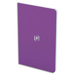 Carnet Oxford Pocket Notes agrafé - couverture carte - 9 x 14 cm - 48 pages - ligné 6 mm - violet (photo)