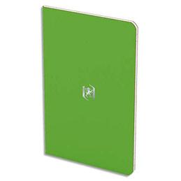 Carnet Oxford Pocket Notes agrafé - couverture carte - 9 x 14 cm - 48 pages - ligné 6 mm - vert