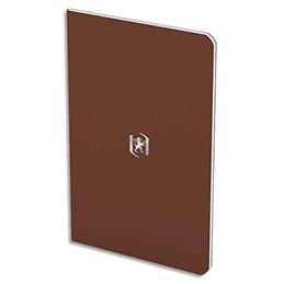 Carnet Oxford Pocket Notes agrafé - couverture carte - 9 x 14 cm - 48 pages - ligné 6 mm - chocolat