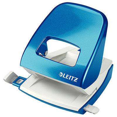 Perforateur 2 trous Leitz Wow - 30 feuilles - effort réduit de 60% - bleu