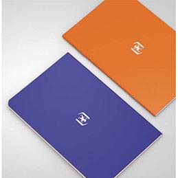Carnet Oxford Pocket Notes agrafé - couverture carte - 9 x 14 cm - 48 pages - ligné 6 mm - bleu roy et orange - lot de 2 (photo)