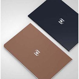 Carnet Oxford Pocket Notes agrafé - couverture carte - 9 x 14 cm - 48 pages - ligné 6 mm - chocolat et noir - lot de 2 (photo)