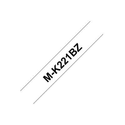 Ruban série M Brother MK221BZ - Ruban noir/blanc - 9 mm x 8 m