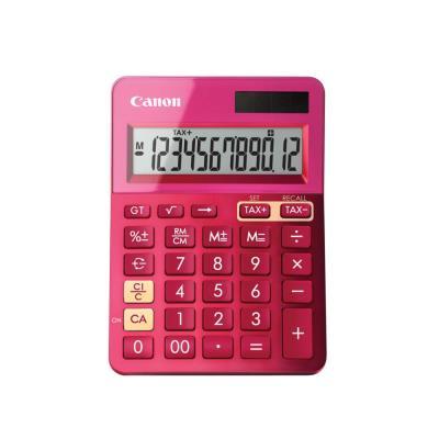 Calculatrice de bureau Canon LS-123K 12 chiffres - rose