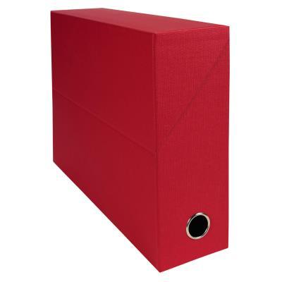Boîte de transfert Exacompta - en carton rigide recouvert de papier toilé - dos 9 cm - rouge