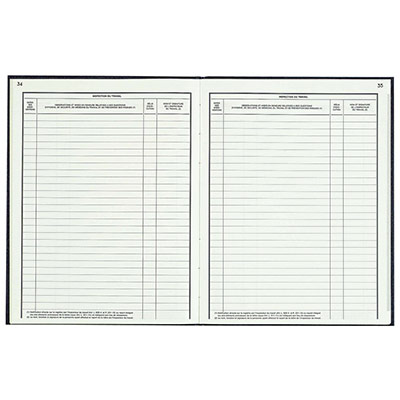 Registre des dangers graves et imminents des risques professionnels - 32 x 24 cm - 40 pages