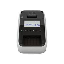 Brother QL-820NWB - Imprimante d'étiquettes - deux couleurs (monochrome) - papier thermique - rouleau (6,2 cm) - 300 x 600 ppp - jusqu'à 110 étiquettes/minute - USB 2.0, LAN, Wi-Fi(n), hôte USB, Bluetooth 2.1 EDR - noir,... (photo)