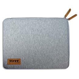 Folio Port torino coton/néoprene gris 15,6'' (photo)