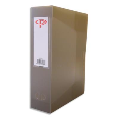 Boîte de classement 5 Etoiles - dos de 8 cm - en polypropylène 7/10e - gris (photo)