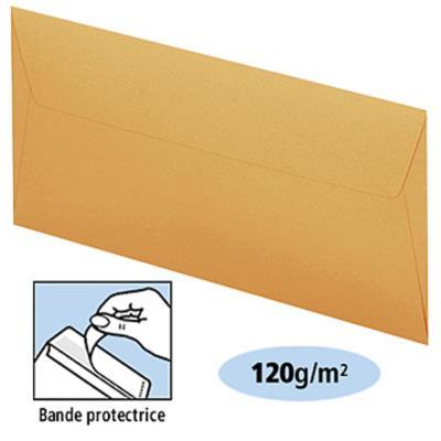 Enveloppe couleur Clairefontaine Pollen - 110 x 220 mm - sans fenêtre - clémentine - boite de 20