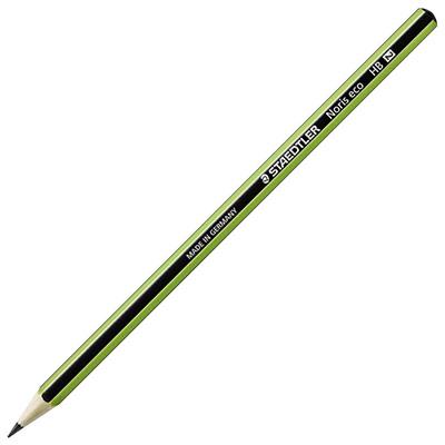 Crayon graphite Staedtler Noris Eco - crayon graphite - mine HB - corps hexagonal vert et noir - lot de 12