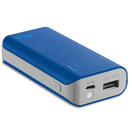 Chargeur Trust Urban Primo 4400 mAh - bleu (photo)