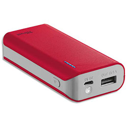 Chargeur Trust Urban Primo 4400 mAh - rouge (photo)