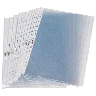 Pochettes perforées A4 polypropylène grainé 5/100 - boîte de 100 (photo)