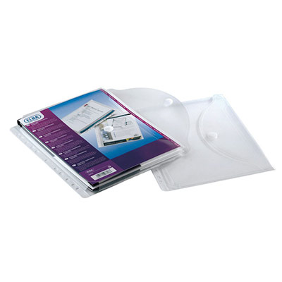 Pochette perforée extensible fermture velcro - polypropylène 20/100e - A4 - sachet de 10 (photo)