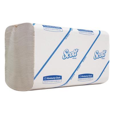 Essuie-mains en papier Performance Premium - simple épaisseur - 300 feuilles enchevêtrées - 215 mm - blanc - boîte 15 pochettes