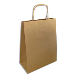 Sacs en papier kraft brun - L35 x H44 x P14 cm - paquet de 200 (photo)