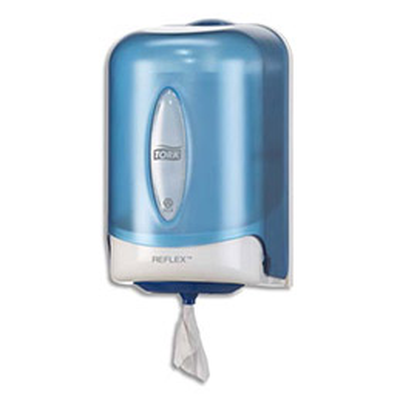 Distributeur d'essuie-mains Tork Mini-Reflex  - système à dévidage central feuille à feuille (photo)