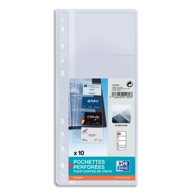 Sachet de 10 pochettes cartes de visite Elba - 8 vues - format 12.8x6.3 cm