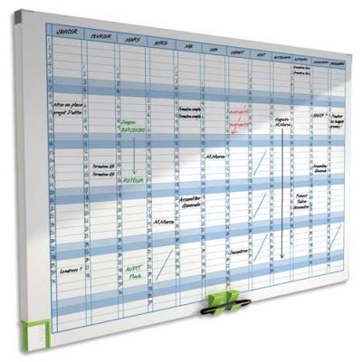 Planning magnétique effaçable Annuel Performance Acco - 60 x 90 cm - 13 colonnes - 31 lignes (photo)