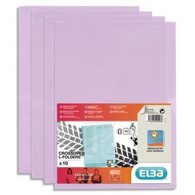 Sachet de 10 pochettes-coin Elba Fard'liss en PVC 18/100e - mauve