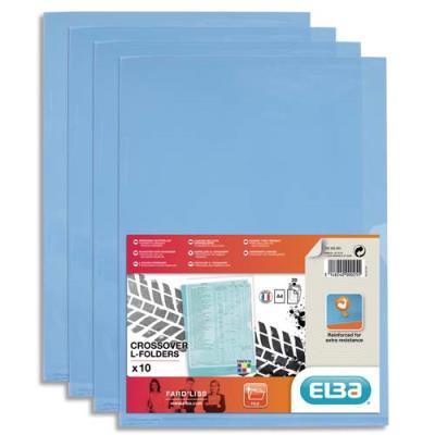 Sachet de 10 pochettes-coin Elba Fard'liss en PVC 18/100e - bleu
