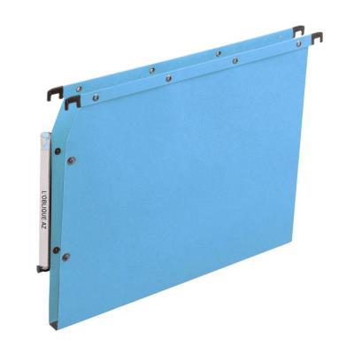 Dossiers suspendus AZV en carte Canson bleu - pour armoire - fond 15 mm