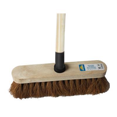 Balai coco fibre pure végétale - monture en bois - largeur 29 cm (photo)