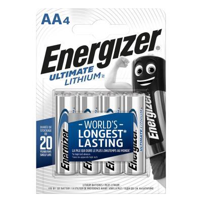 Pile Energizer AA LR6 Ultimate lithium - blister de 4 piles