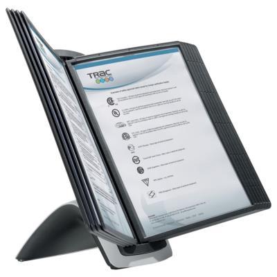 Pupitre de présentation Durable Sherpa style table - 10 pochettes A4 - Dim L36,7 x H13,1 x P28,7 cm - noir