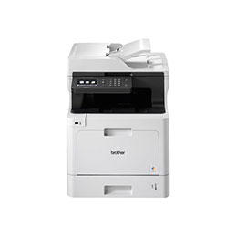 Brother DCP-L8410CDW - Imprimante multifonctions - couleur - laser - 215.9 x 355.6 mm (original) - A4/Legal (support) - jusqu'à 31 ppm (impression) - 300 feuilles - USB 2.0, Gigabit LAN, Wi-Fi(n), hôte USB (photo)