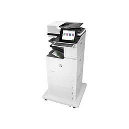 HP LaserJet Enterprise Flow MFP M681z - Imprimante multifonctions - couleur - laser - Legal (216 x 356 mm) (original) - A4/Legal (support) - jusqu'à 47 ppm (copie) - jusqu'à 47 ppm (impression) - 2300 feuilles - 33.6 Kbits/s - USB 2.0, Gigabit LAN, hôte USB (photo)