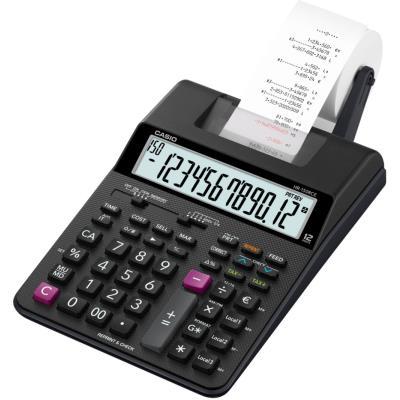 Calculatrice imprimante portable de bureau Casio HR-150 RCE - 12 chiffres - noire (photo)