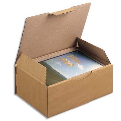 Boîte postale brune d'expédition en carton - 20 x 14 x 7,5 cm (photo)