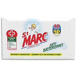 Paquet de 80 Lingettes antibactériennes St Marc (photo)