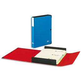 Chemise Innovation de Arianex : 3 en 1 : boîte de classement trieur et chemise - 9 compartiments - dos 8 cm - bleu