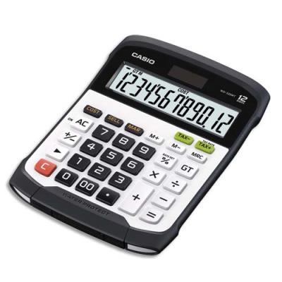 Calculatrice maxi bureau Casio WD-320MT - étanche eau et poussiere - 12 chiffres (photo)