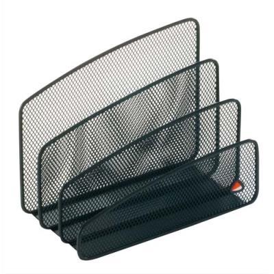 trieur vertical 3 compartiments alba m tal mesh noir. Black Bedroom Furniture Sets. Home Design Ideas