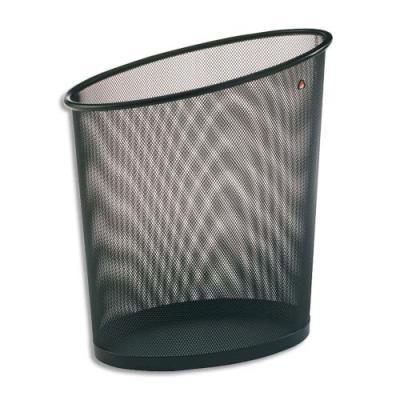 Corbeille à papier en métal Mesh noir (photo)