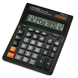 Calculatrice de bureau Citizen SDC444S - 12 chiffres (photo)