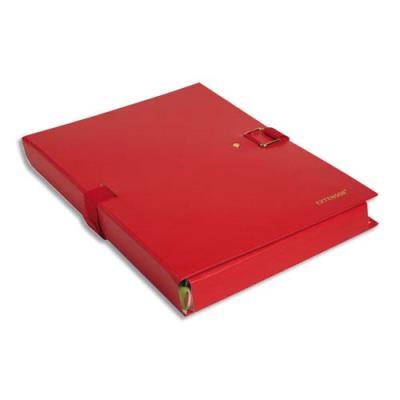 Chemise extensible Extensor® de Claircell - dos 12 cm - coloris rouge finition imitation cuir